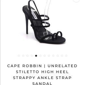 Cape Robbin High Heel Strappy Ankle Strap Sandal